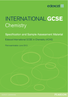 Edexcel International GCSE Chemistry 2011 specification